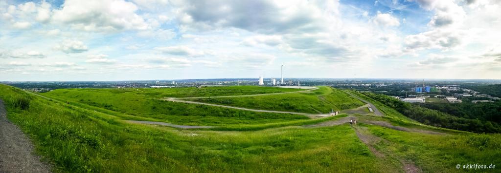 Fotografie: 180 ° Panorama von der Halde Hoheward