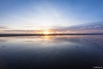 Abendstimmung im Watt, Böhler Strand, Sankt Peter-Ording, Schleswig-Holstein, 05.04.2015 © by akkifoto.de