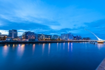 Convention Centre Dublin &Samuel Becket Bridge, Dublin, Irland, 15.07.2014 © by akkifoto.de