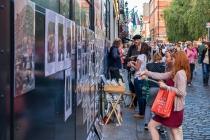 Temple Bar shopping, Dublin, Irland, 16.07.2014 © by akkifoto.de