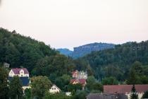 Leupoldishain, Blick zum Pfaffenstein, Sachsen, Deutschland, 06.09.2020 © by akkifoto.de