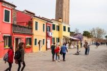 Der schiefe Turm, Parrocchia di San Martino Vescovo, Burano, Venedig, Italien, 09.04.2019 © by akkifoto.de