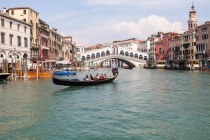 Canal Grande, Ponte di Rialto, Venedig, Italien, 10.04.2019 © by akkifoto.de