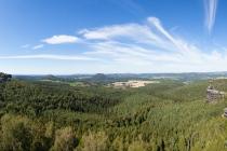 Panoramablick vom Papststein, Sachsen, Deutschland, 08.09.2020 © by akkifoto.de